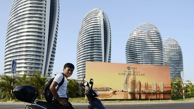 It was billed as China's Dubai. Picture: AFP