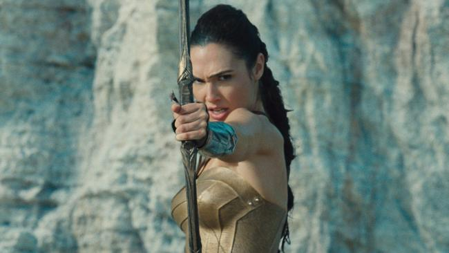 GAL GADOT as Diana in a scene from action adventure film WONDER WOMAN a Warner Bros. Pictures release.