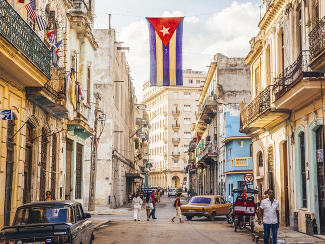 A street in central Havana, the capital of Cuba. Picture: iStock