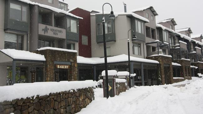 Squatters Run, a group of apartments in Thredbo Village. Upstairs, one-bedroom lofts are on the market for $620,000