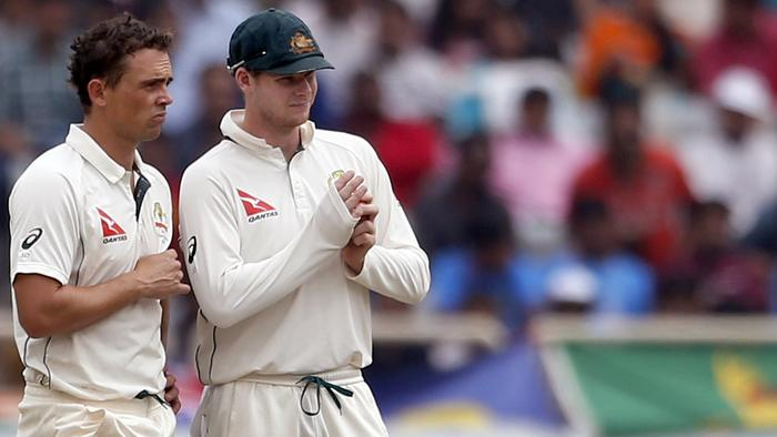 Steve O'Keefe bowled 77 overs in India's innings.
