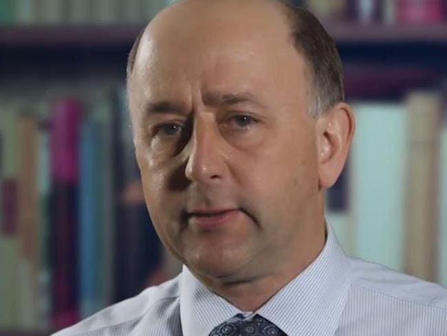 'That's not marriage' ... Dr David van Gend appears as a spokesman against marriage equality in the new advertisement. Picture: YouTube
