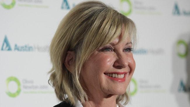 Olivia Newton-John. What an Aussie! (AAP Image/Tracey Nearmy)