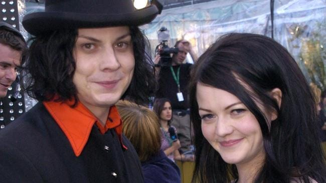 Jack White and Meg White of the White Stripes at the 46th Annual Grammy Awards.