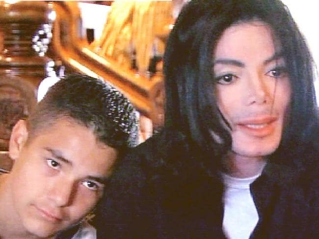 The final straw. 12-year-old Gavin rests his head on Michael Jackson's shoulder during the interview.
