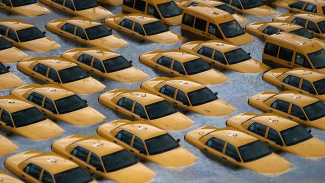 Flooded cabs
