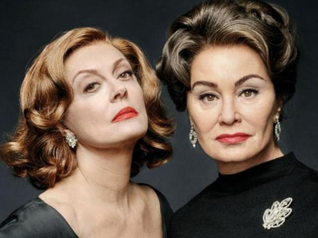 Susan Sarandon is Bette Davis and Jessica Lange is Joan Crawford in the TV series Feud: Bette and Joan. Picture: Supplied
