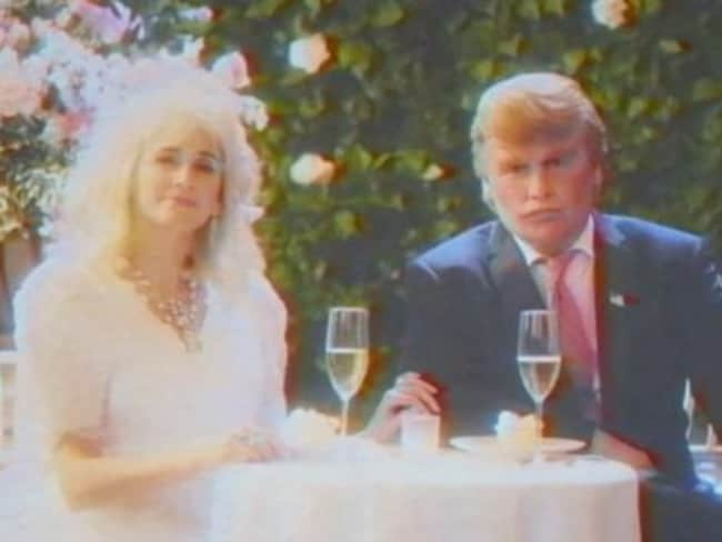 Spot on ... Johnny Depp portrays 1980s-era billionaire mogul Donald Trump. Picture: Funny or Die