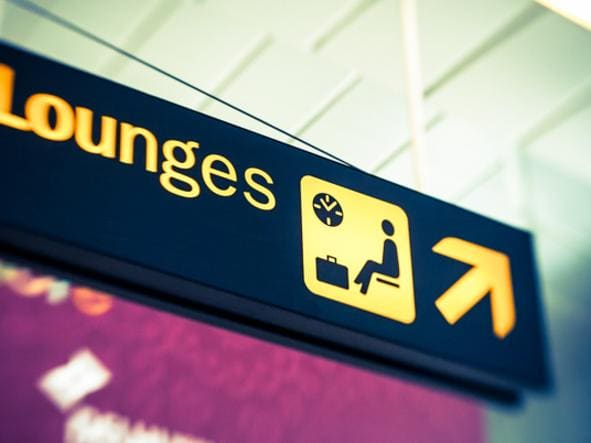 Lounges sign into airport, business class, first class