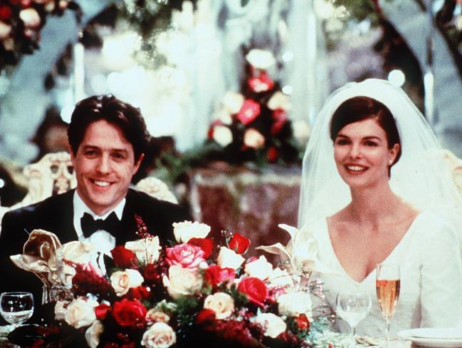 She missed out on Four Weddings and a Funeral, but Tripplehorn did get to marry Hugh Grant (playing Michael) as Gina in Mickey Blue Eyes. Picture: Supplied