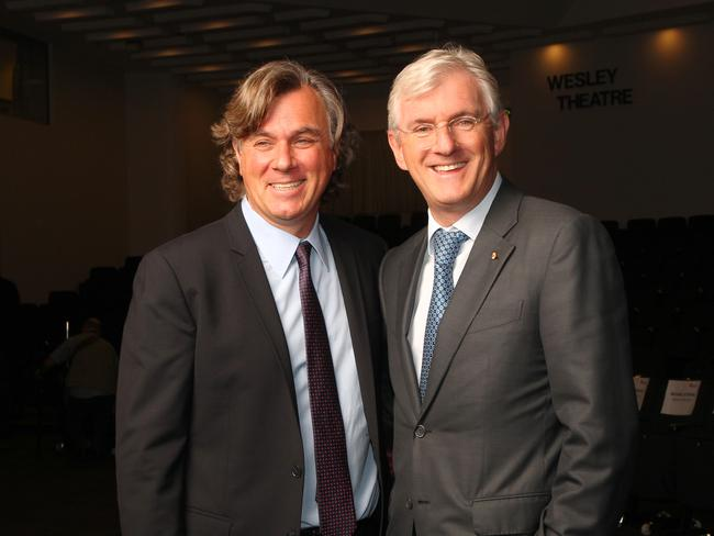 Co-CEOs Peter Lowy and Steven Lowy from Westfield. Picture: Hollie Adams/The Australian