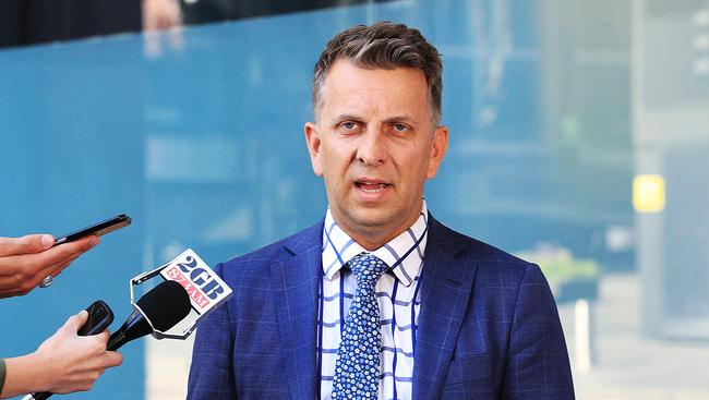 State Transport Minister Andrew Constance addresses the Media in response to the proposed train strike.