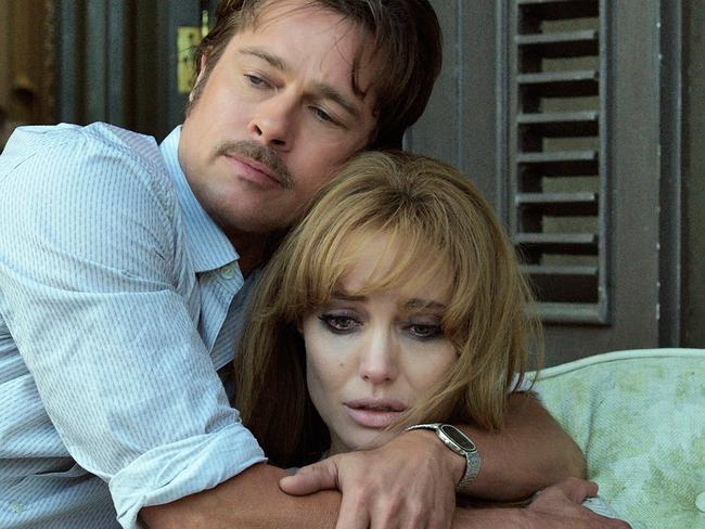 Brad Pitt and Angelina Jolie Pitt in a scene from the film, By the Sea.