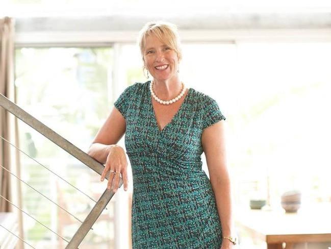 Sydney's 'shark wrangler'.... Cronulla real estate agent Melissa Hatheier. Picture: Facebook