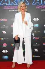 Liv Phyland arrives on the red carpet for the 31st Annual ARIA Awards 2017 at The Star on November 28, 2017 in Sydney, Australia. Picture: Getty