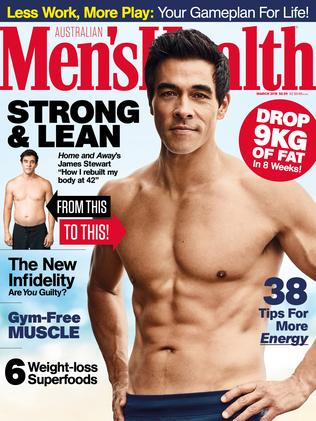James Stewart on the cover of this month's Men's Health magazine. Picture: Jason Ierace for Men's Health