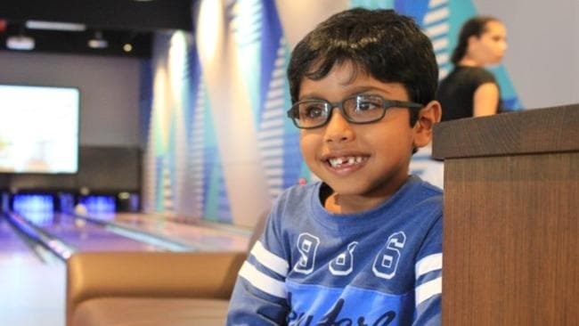 """Aayaan Rao was diagnosed with a tumour after his mother looked at a photo and noticed a """"white glow"""" in one of his eyes. He later had the eye removed but is now a happy and healthy six-year-old."""