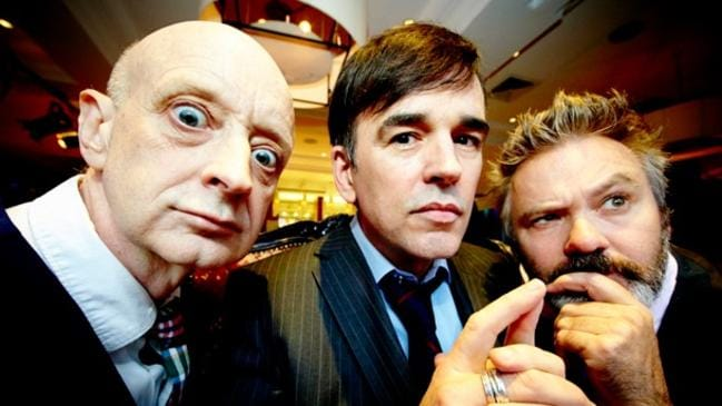 Old mates ... Paul McDermott with his All Stars cohorts Paul Livingston and Tim Ferguson. Picture: News Corp Australia.