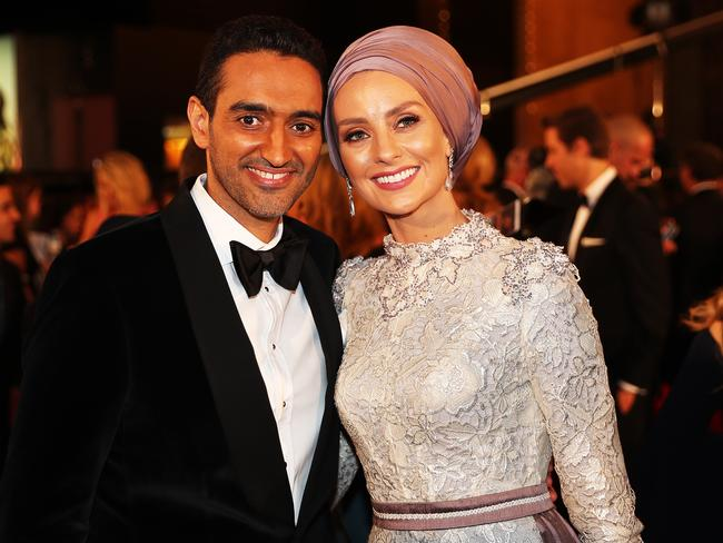 Waleed Aly and Susan Carland at the 2017 Logie Awards. Picture: AAP Image/Jonathan Di Maggio