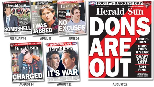 How the Herald Sun broke the story.