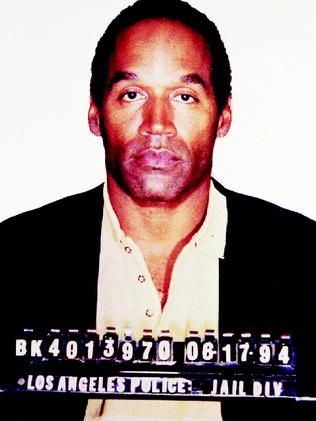 Orenthal James Simpson in a booking photo after being arrested for the murder of his former wife Nicole Brown Simpson and Ronald Goldman. Picture: Supplied