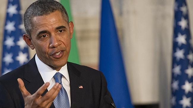 Diplomacy ... US President Barack Obama said Russia must take steps to reduce tensions over Ukraine. Picture: AFP