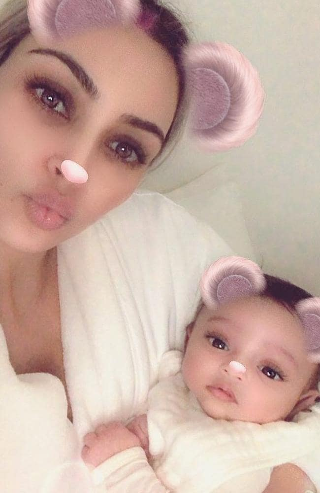 Kim Kardashian's previous picture of her baby daughter Chicago had filters on it