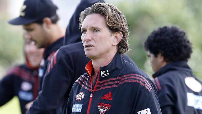 James Hird at Essendon training today. Picture: Wayne Ludbey