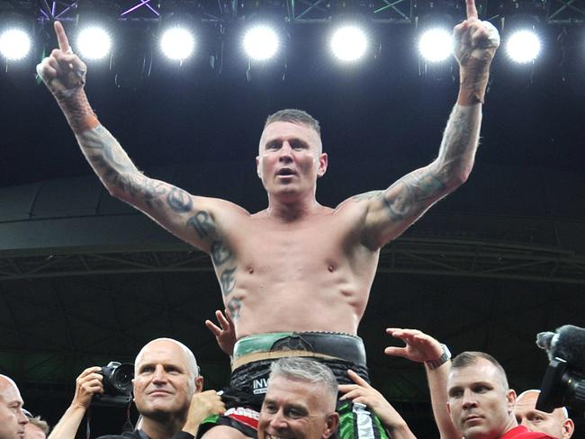 Danny Green celebrates his win. Picture: AAP