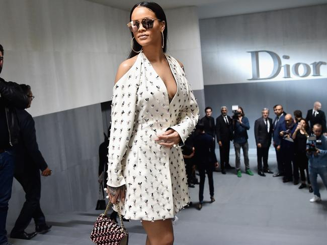 Rihanna at the Dior show in Paris. Picture: Getty Images