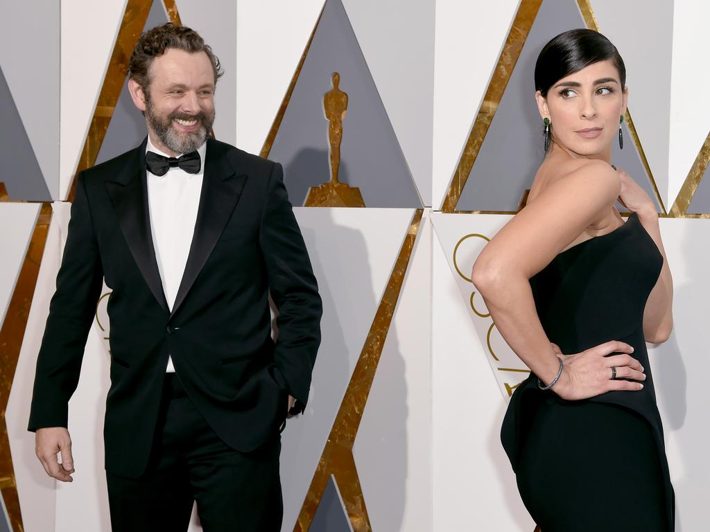 Michael Sheen and Sarah Silverman attend the 88th Annual Academy Awards on February 28, 2016 in Hollywood, California. Picture: AP