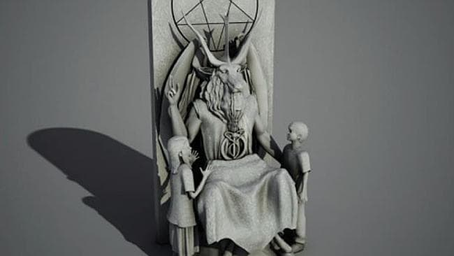 Satanists have started a crowd-source campaign to raise the money needed to erect this statue of Baphomet on the Oklahoma state parliament grounds.