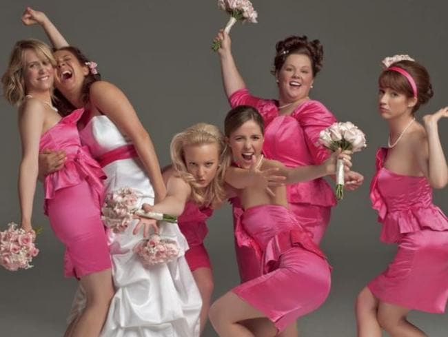 Melissa McCarthy (second from right) was an audience favourite in the breakout hit Bridesmaids.