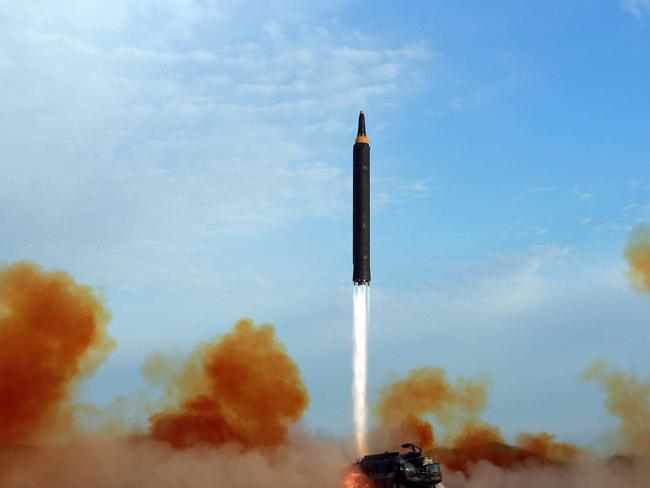 North Korea has tested several ballistic missiles this year, sparking anger across the globe. Picture: KCNA/AP