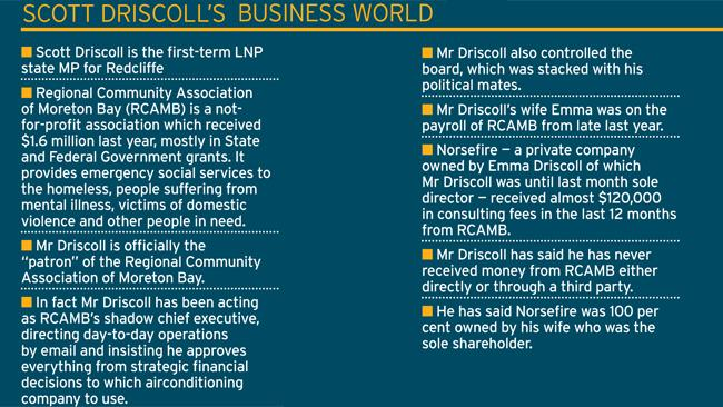 scott driscoll's business world, Regional Community Association of Moreton Bay RCAMB