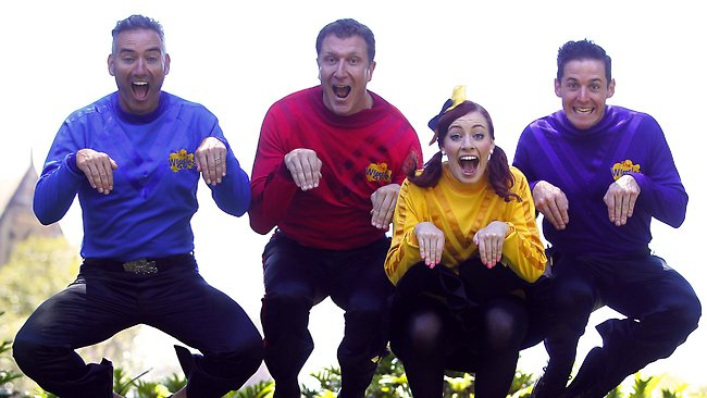 The Wiggles perform the Down Under Dance. Picture: Bradley Hunter
