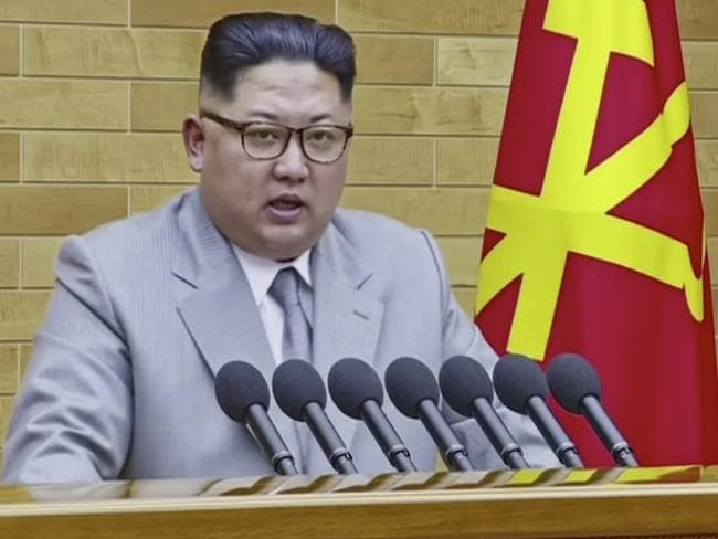 North Korean leader Kim Jong-un changed his tune at the start of 2018 to embrace a greater dialogue with South Korea. Picture: KRT via AP Video