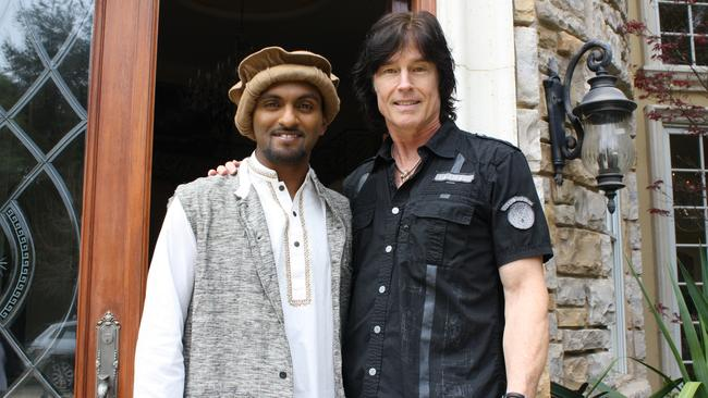 Very bold ... Nazeem as the Imran at Bold And The Beautiful star Ron Moss' mansion. Picture: Supplied