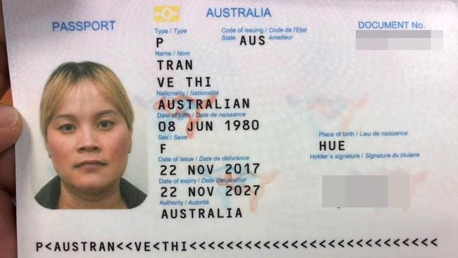 Ms Tran was arrested headed for Australia via Hong Kong. Picture: Khmer Immigration Department