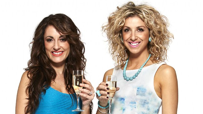 "My Kitchen Rules' ""Real Housewives"" Angela Kennedy and Melina Bagnato are at war with Sophie Pho and Ashlee Pham. Picture: Channel 7"