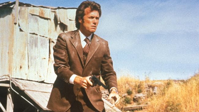 A young Clint Eastwood in a scene from 1971 film, Dirty Harry. Picture: Supplied