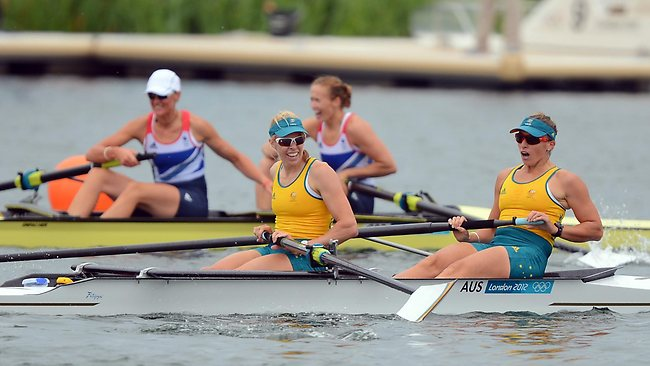 Australian pair Kate Hornsey and Sarah Tait claimed silver behind Great Britain. Picture: Michael Dodge
