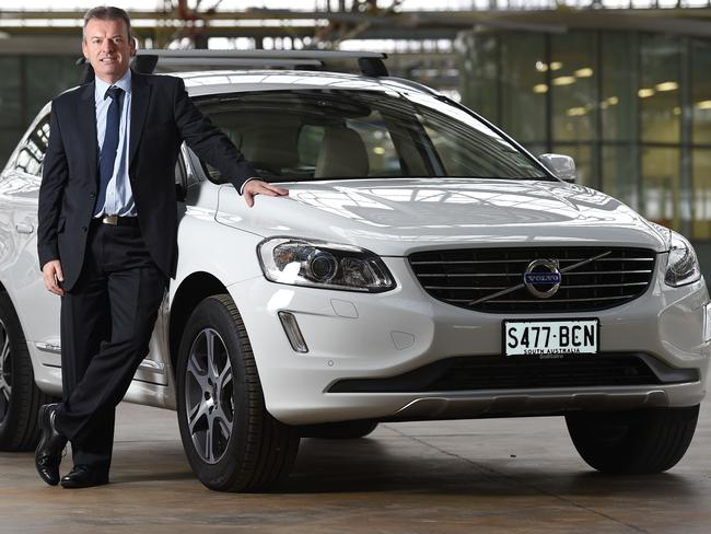 Volvo's driverless car will be trialled on Australian roads in November. Technical manager for Volvo Car Australia David Pickett with a Volvo XC60. Photo: Naomi Jellicoe