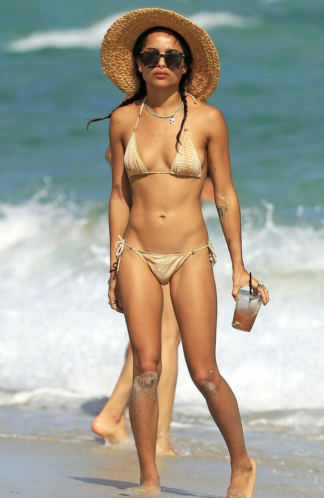 Image issues ... Zoe Kravitz admitted she once struggled with eating disorders. Picture: Supplied