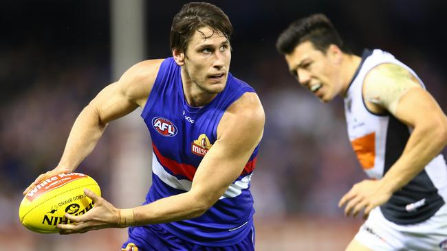 Ryan Griffen gave his all for the Western Bulldogs. Picture: Michael Klein