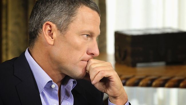 Body language expert David Alssema counted 22 hand to face gestures by Lance Armstrong during his interview. Picture: AP