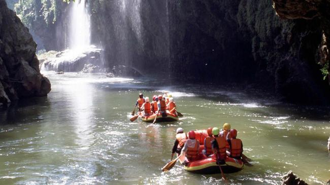 Chiang Mai... you could be rafting on the river.