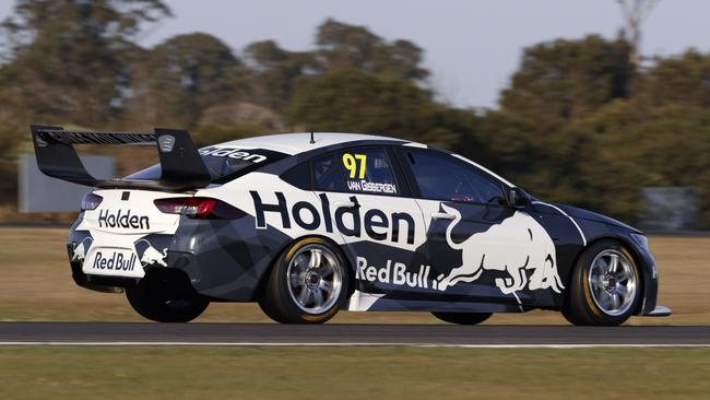 Jamie Whincup behind the wheel of the ZB Commodore.