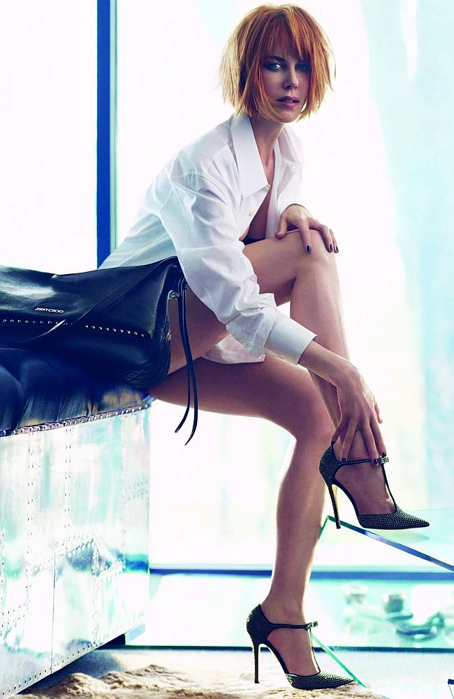 Nicole Kidman had a dramatic makeover for this Jimmy Choo campaign. Picture: Jimmy Choo
