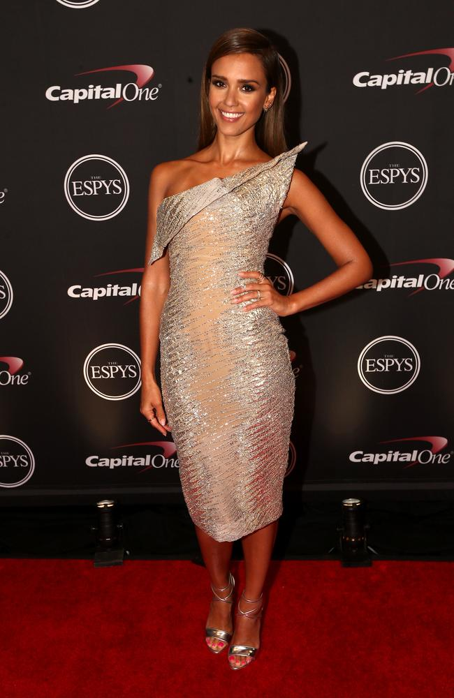 Actress Jessica Alba attends the 2014 ESPYs at the Nokia Theatre in Los Angeles, California.
